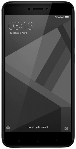Смартфон Xiaomi RedMi 4X 16Gb Black (Черный) фото 1